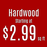 Hardwood starting at $2.99 sq.ft. while supplies last at Floorco Design Center in OKC!