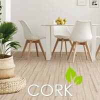 Be kind to your planet - stop by to see our selection of eco-friendly cork flooring.