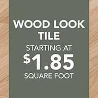Wood look tile flooring starting at $1.85 sq. ft.