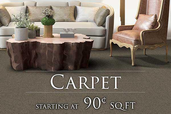 Carpet starting at 90¢ sq.ft. at FloorCo Design Center in Oklahoma City
