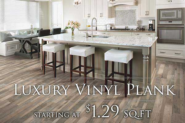 Luxury Vinyl Plank Flooring starting at $1.29 sq.ft. at FloorCo Design Center in Oklahoma City